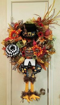 Thanksgiving Turkey Wreath Autumn Blessings by ...