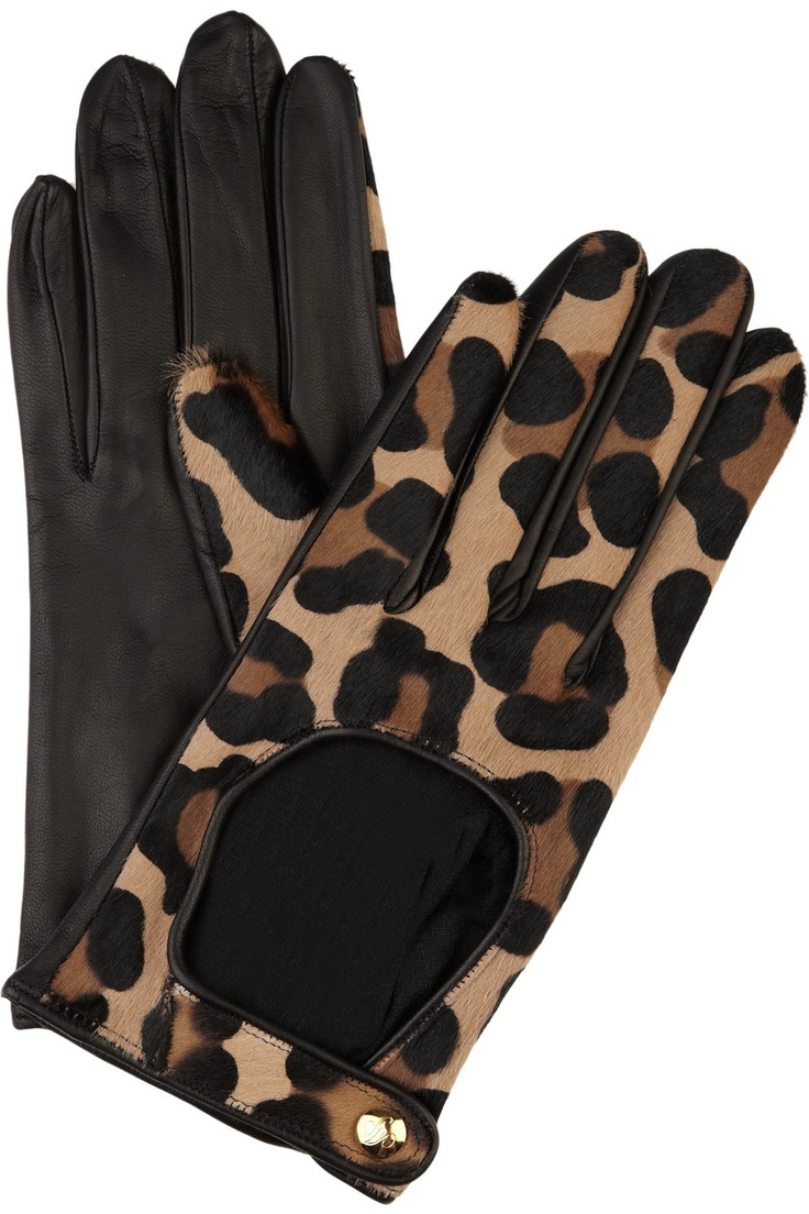 Agent provocateur leopard calf hair driving gloves yes please