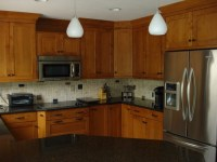 Brookhaven cabinets - maple wood with nutmeg stain ...