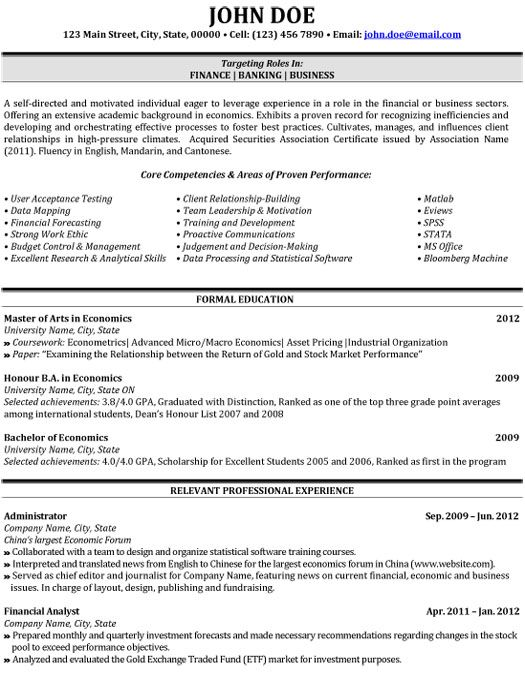 What Is The Difference Between A Business Analyst And A 10 Best Images About Best Banking Resume Templates