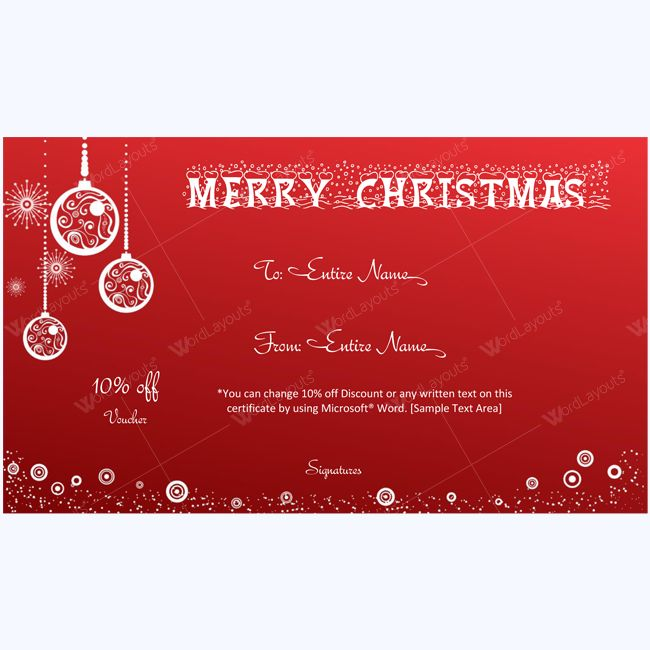 Homemade Christmas Gift Certificate Template u2013 Homemade Ftempo - christmas certificates templates for word
