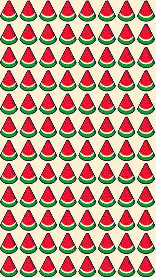 Watermelon Wallpaper Cute One Watermelon Background Backgrounds Pinterest