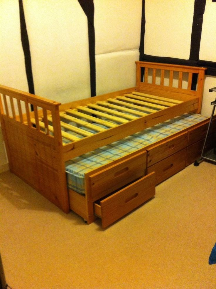Single Bed With Drawers Underneath Woodworking Projects