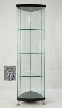 black corner curio cabinet with light | Roselawnlutheran