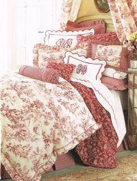 red toile bedding #textiles | I adore toile ...