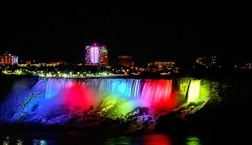 Niagara Falls At Night Wallpaper Niagara Falls Lights At Night Niagara Falls At Night