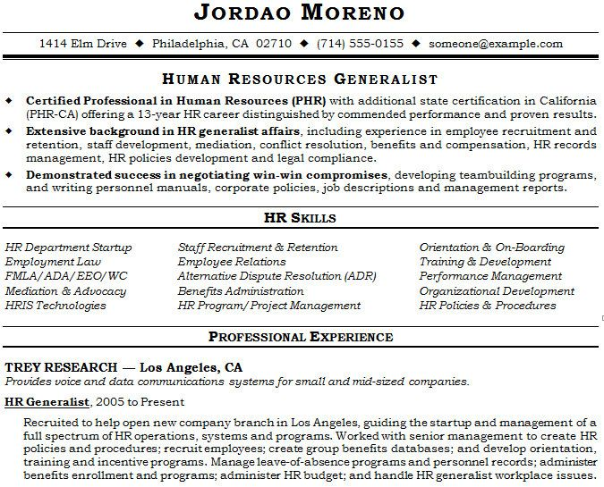 examples of hr resumes hris analyst resume