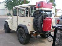 oooo, my husband would loooove this! haha Cool FJ40 tire ...