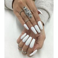 25+ best ideas about Long white nails on Pinterest | Long ...