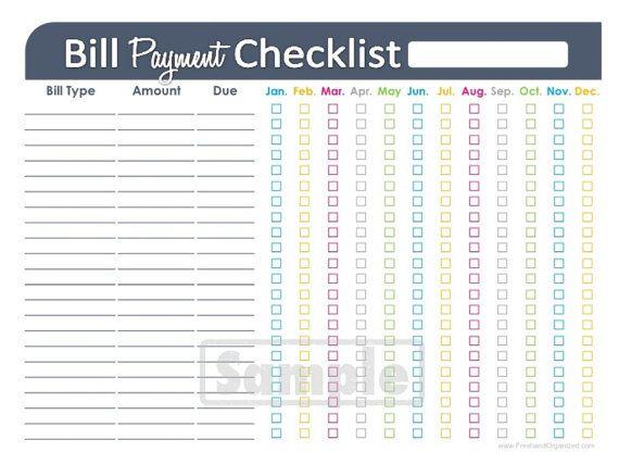 home finance bill organizer