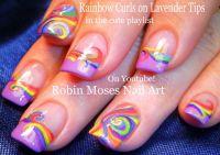 Nail Art | DIY CUTE Rainbow Curl Nails! FUN Nail Design ...