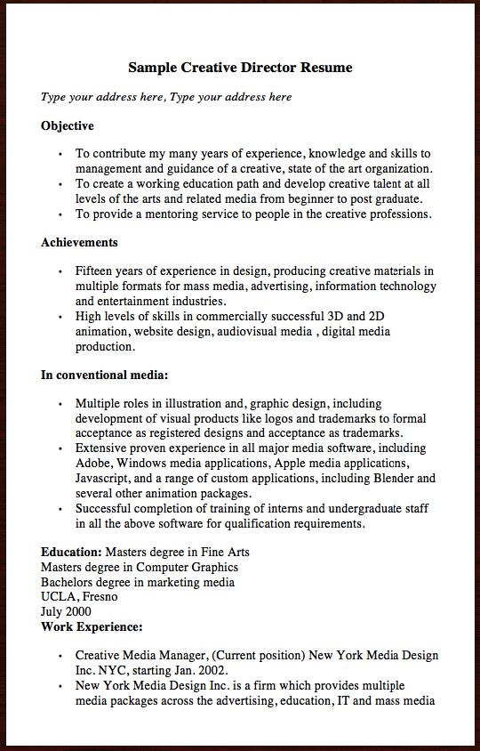 employment experience resume