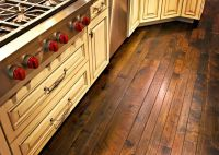 Ideas, Cool Plank Hickory Flooring On The Kitchen Design ...
