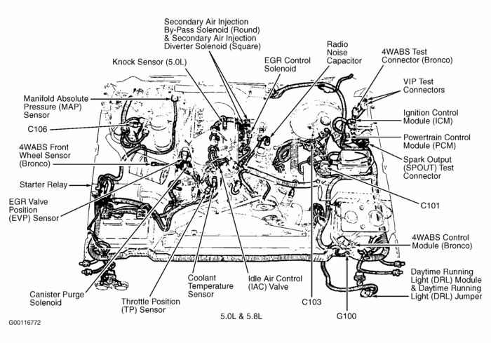 95 ford f150 engine diagram