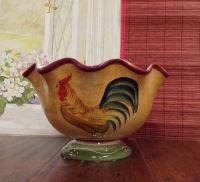 Tuscany Province Sunshine Rooster, Hand Painted Ceramic ...
