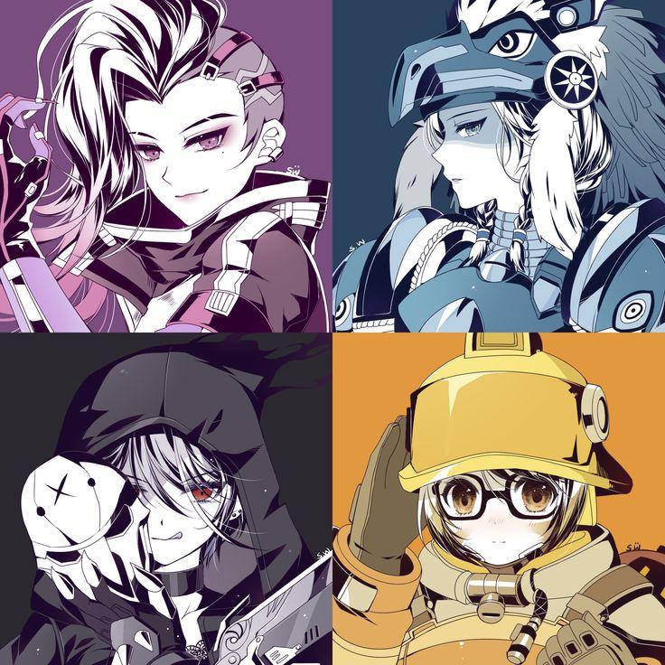 Iphone Collage Wallpaper Maker Overwatch Girl Genderbend Sombra Pharah Reaper