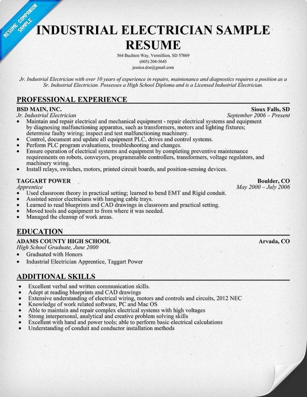 Resume Preparation Guidelines Freshersworld Industrial Electrician Resume Sample Resume Ideas