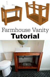 Modern Farmhouse Bathroom Vanity Tutorial | Modern ...