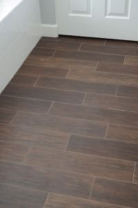 tile that looks like wood- love it! This is a very cute ...