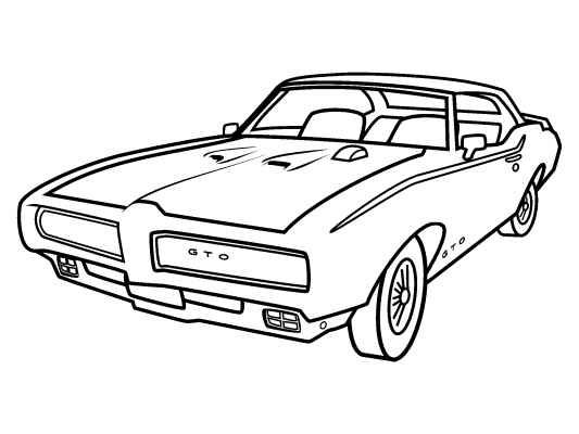 pontiac car drawings