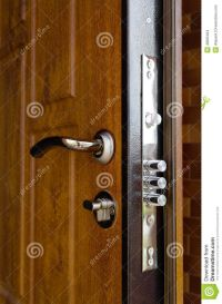 triple-cylinders-new-high-security-lock-installed-wooden ...