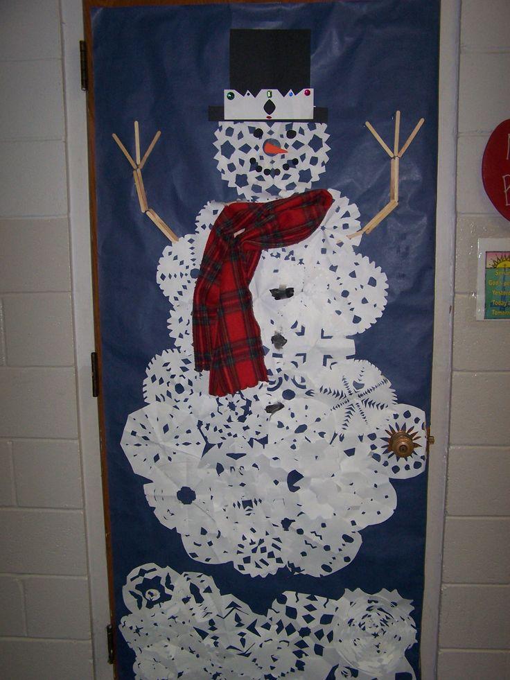 Christmas Snowman Classroom Door Decorations