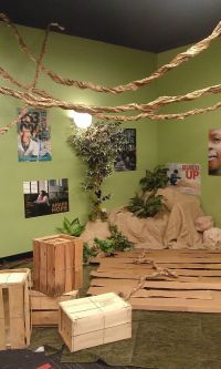 paper vines from twisted brown roll paper | VBS 2015 Camp ...