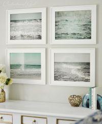 set of framed beach prints. What a fresh alternative to ...