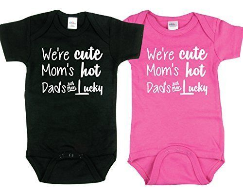 Newborn Infant With Fever Cute Onesies For Twin Boy And Girl Includes 2 Bodysuits