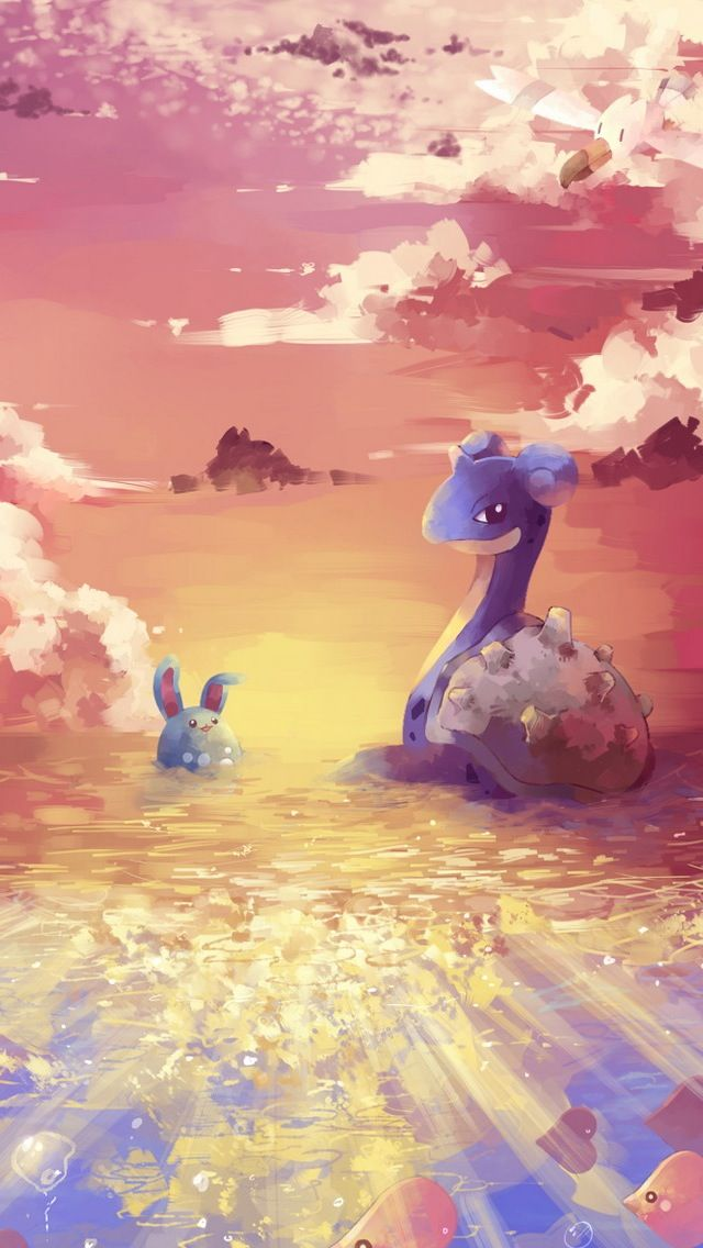 Mobile9 Cute Wallpapers Lapras And Azumarill Pokemon Iphone Wallpaper Mobile9
