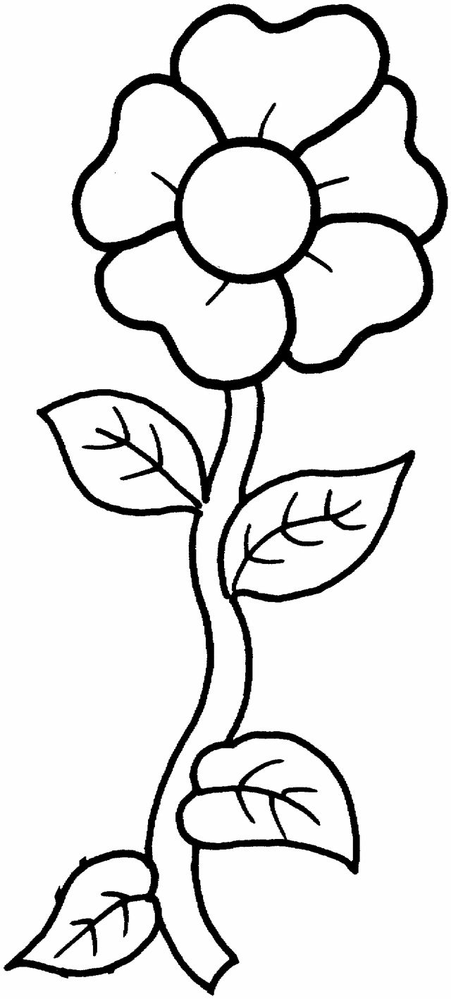 A single flower free printable coloring pages for when they want to make flowers