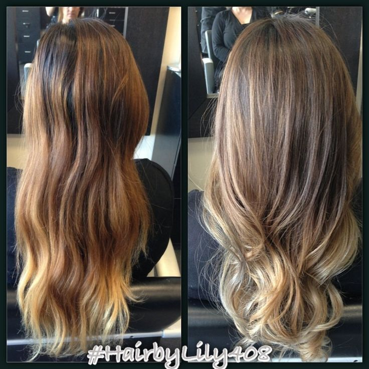 Balayage Brown To Blonde With Fringe Changed The Brassy Hair To Something More Natural And Ashy