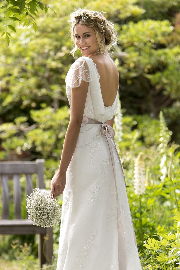true bride collection cowl neck wedding dress W NEW COLLECTION IN STORES AUGUST Romantic lace bridal gown with V neck