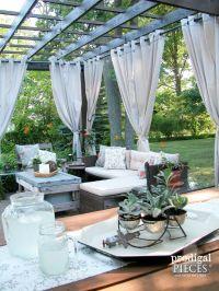 Best 25+ Pergola curtains ideas on Pinterest | Outdoor ...
