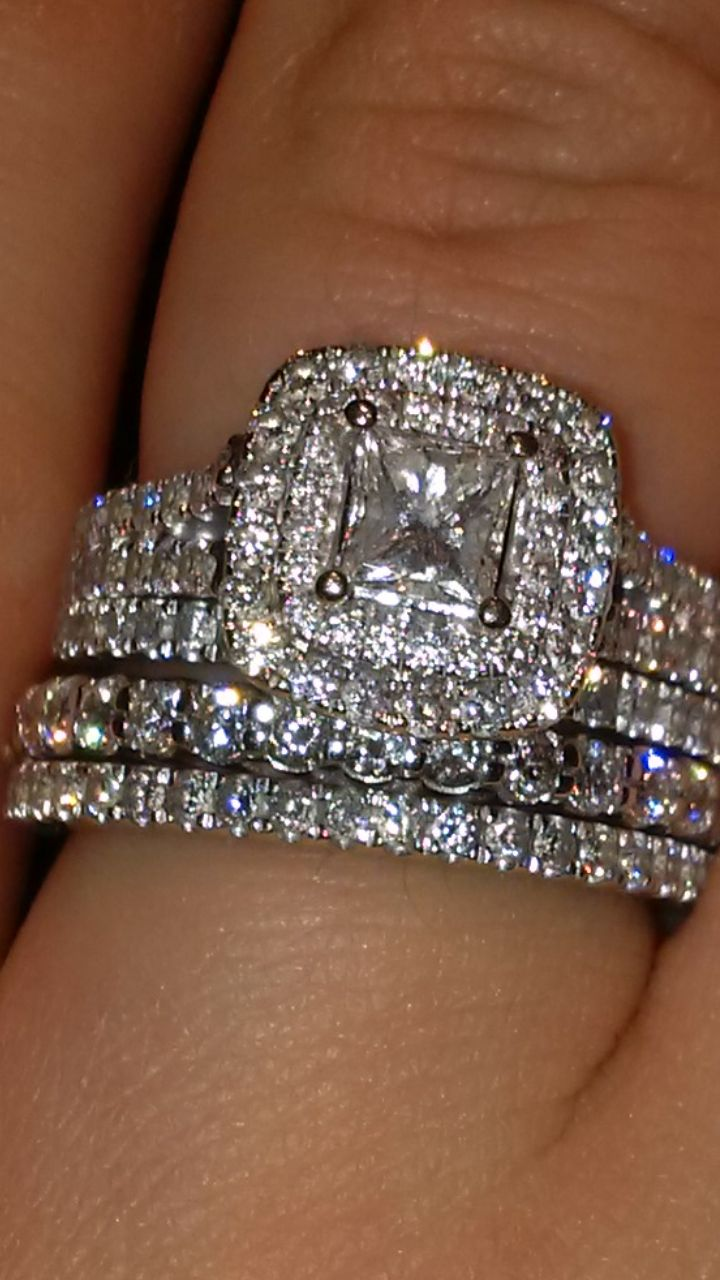 zales zales wedding rings sets Vera Wang engagement ring with two Vera Wang bands Plus an eternity band second from