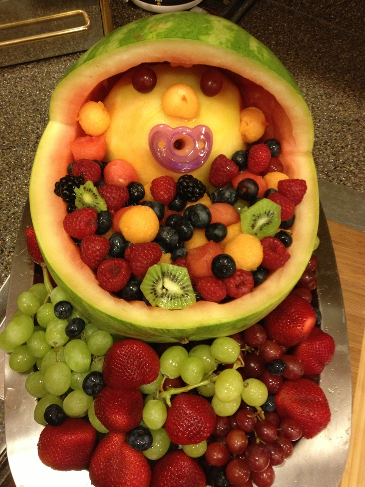 Comfortable Watermelon Carriage Fruit Bowl For Baby Shower Baby ...