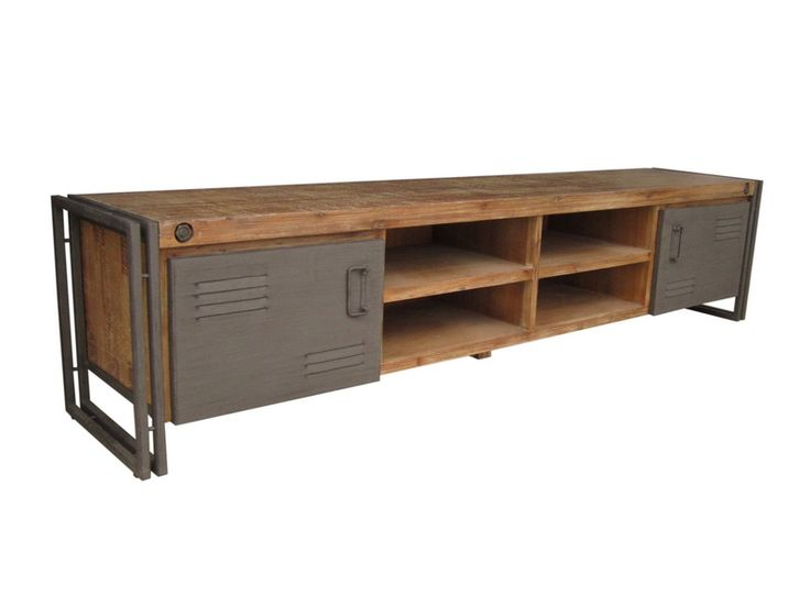 Stoer Industrieel Tv Meubel Industrial Tv Dressoir, Audio Meubel Industrieel