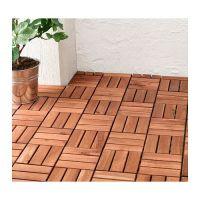 RUNNEN Floor decking, outdoor, brown stained | Decking ...