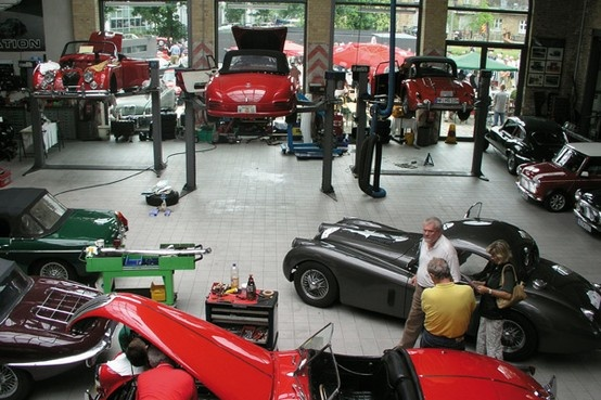 Classic car workshop in Germany