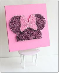 Minnie Mouse String Wall Art , Minnie Mouse Decorations ...