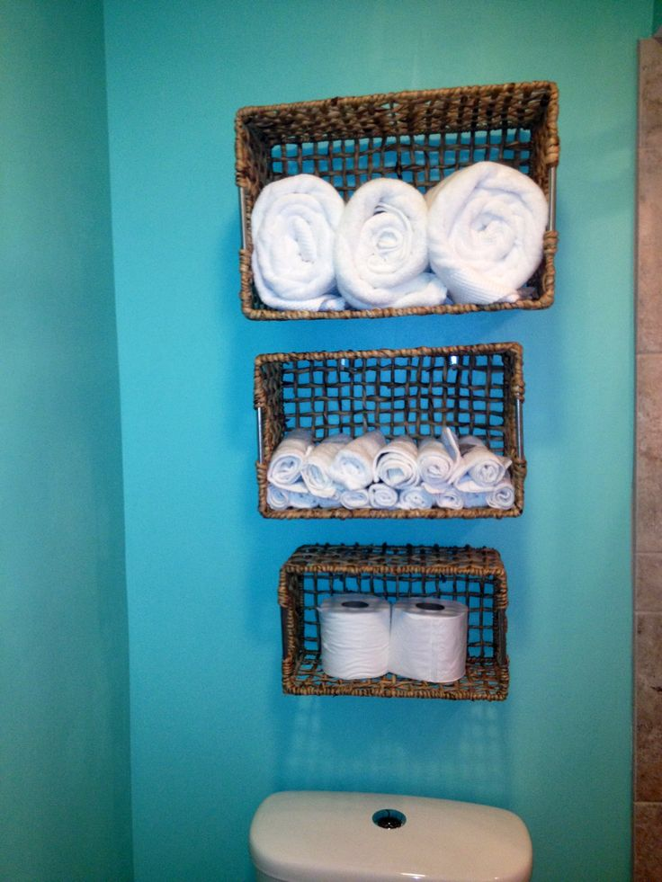 Storage Unit Houses Diy Bathroom Storage! A Few 7 Dollar Baskets From Tj Maxx