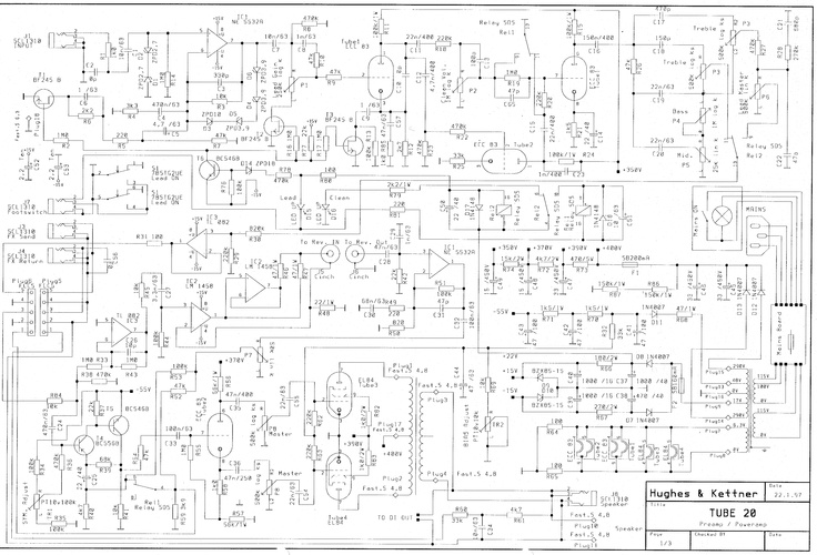 bass guitar amp schematics