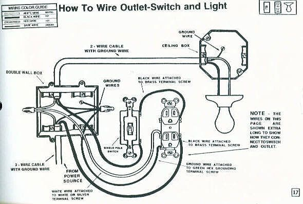 wiring for house light switch