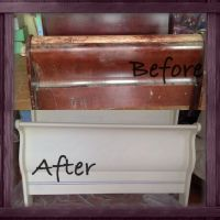 Chalk paint! DYI refurbished sleigh bed. | Craft Ideas ...