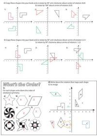 Maths Rotation Worksheets Ks2 - translation worksheets by ...