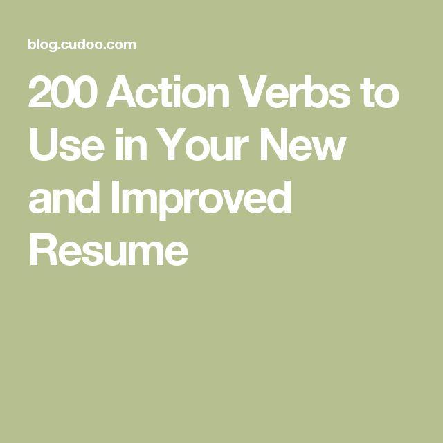 25+ legjobb ötlet a Pinteresten a következővel kapcsolatban - verbs to use in resume
