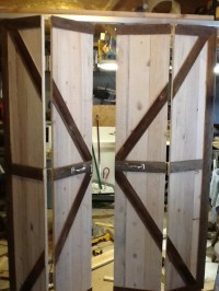 Double bi-fold barn doors opened. | My art folder ...