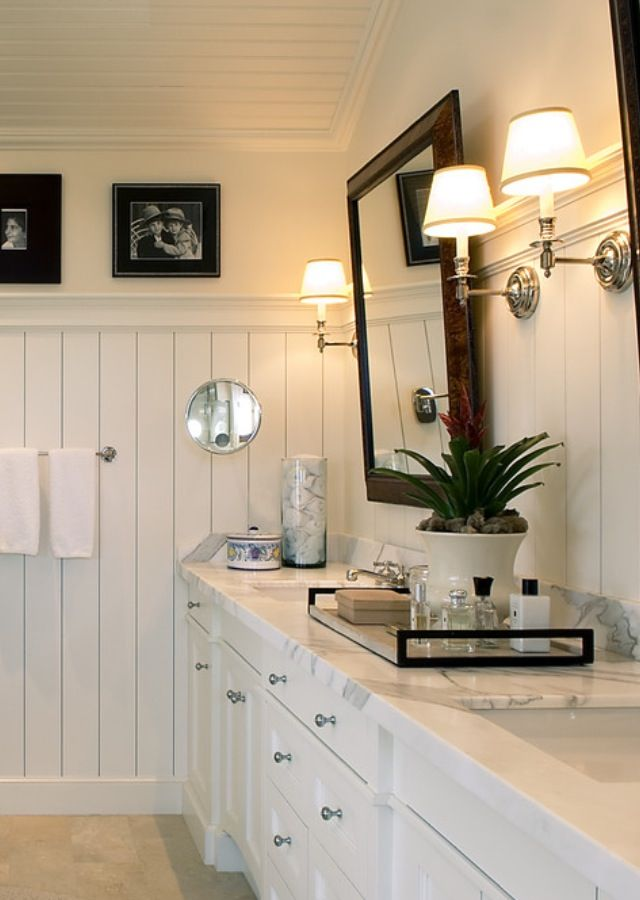 Beadboard Bathroom White Bathroom, Beadboard He Needs A Touch Of Masculine