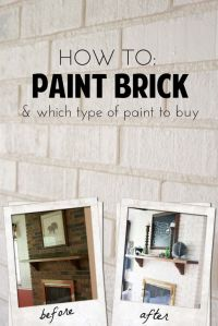 25+ Best Ideas about Painting Brick Fireplaces on ...