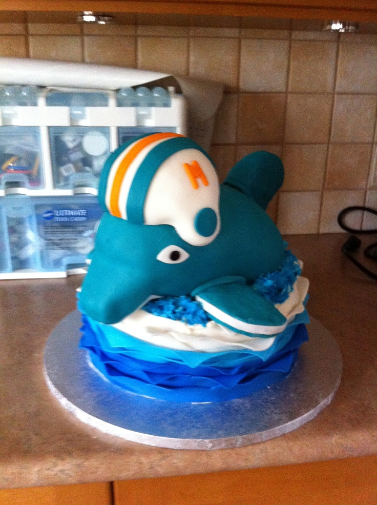 1000 images about miami dolphins cakes on pinterest